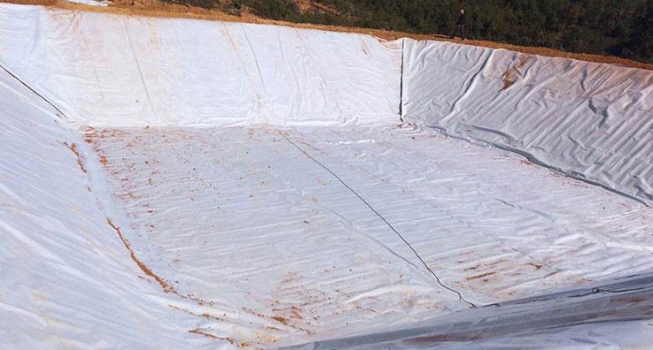 人工湖复合土工膜施工案例